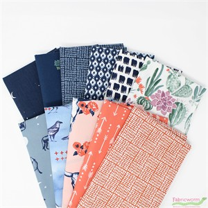 Monaluna Organic Fabric, Journey in FAT QUARTERS 10 Total