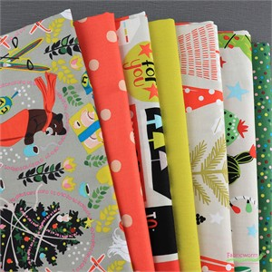 Fabricworm Custom Bundle, Joyful in FAT QUARTERS 7 Total