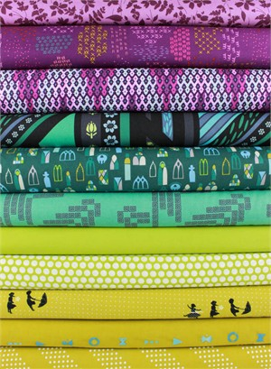 Fabricworm Custom Bundle, Jubilant Jewels in FAT QUARTERS 11 Total