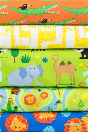 Timeless Treasures, Jungle Jam in FAT QUARTERS 5 Total