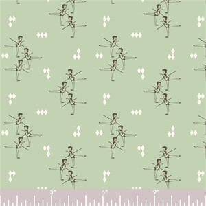COMING SOON, Arleen Hillyer for Birch Organic Fabrics, Pirouette, KNIT, Arabesque Mint