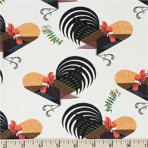 AVAILABLE FOR PREORDER, Charley Harper for Birch Organic Fabrics, Backyard, KNIT, Crawling Tale