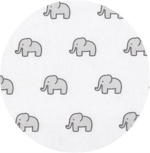 Robert Kaufman, Little Safari KNIT, Elephant Silver
