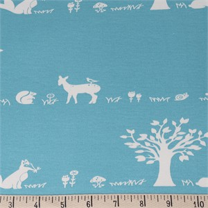 COMING SOON, Jay-Cyn Designs for Birch Organic Fabrics, Storyboek Drie, KNIT, Forest Friends Aqua