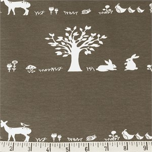 COMING SOON, Jay-Cyn Designs for Birch Organic Fabrics, Storyboek Drie, KNIT, Forest Friends Brown