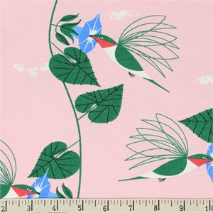 COMING SOON, Charley Harper for Birch Organic Fabrics, Backyard, KNIT, Hummingbirds