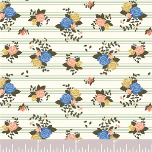 COMING SOON, Arleen Hillyer for Birch Organic Fabrics, Pirouette, KNIT, Rosette Stripes
