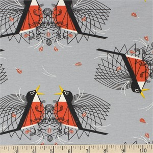 COMING SOON, Charley Harper for Birch Organic Fabrics, Backyard, KNIT, Round Robin