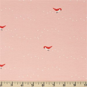 AVAILABLE FOR PREORDER, Jenny Ronen for Birch Organic Fabrics, Whistle, KNIT, Tiny Steps Blush