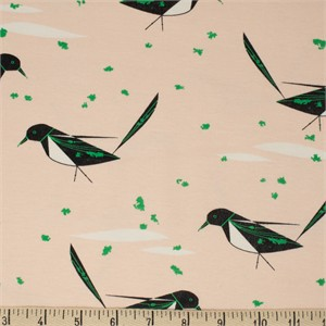COMING SOON, Charley Harper for Birch Organic Fabrics, Best Of, KNIT, Black Billed Magpie