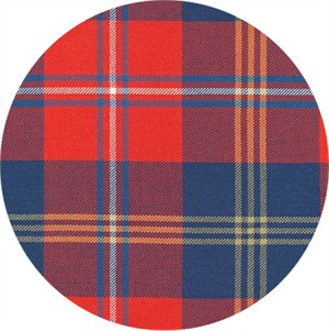 Robert Kaufman, Grizzly Plaid FLANNEL, Kilt Red