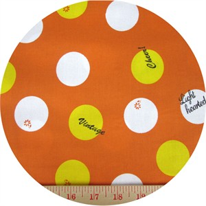 Kokka Japan, Lighthearted, Big Dots Orange