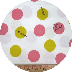 Kokka Japan, Lighthearted, Big Dots White