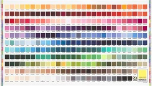 "Robert Kaufman, Kona Printed Color Chart Multi (24"" Panel)"