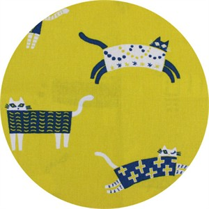 Japanese Import, CANVAS, Kooky Kitties Yellow
