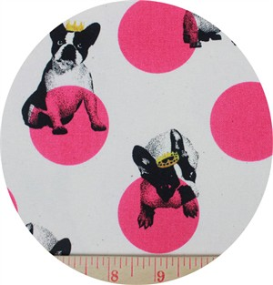 Japanese Import, CANVAS, Doggie Royalty Magenta