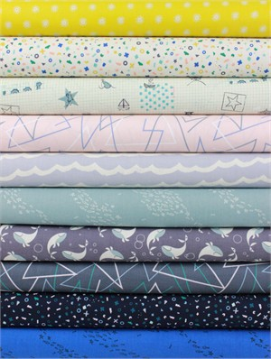 Rashida Coleman-Hale for Cotton and Steel, Kujira & Star in FAT QUARTERS 9 Total