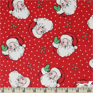 Urban Chiks for Moda, Swell Christmas, LAMINATE, Santa Red