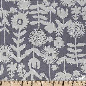 Japanese Import, LAWN, Stamped Flower Grey