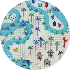 Rashida Coleman-Hale for Cotton and Steel, Lagoon, Lagoon Map Natural