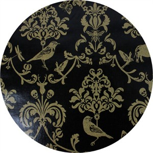 Echino, METALLIC LAMINATE, Classic Animals Black