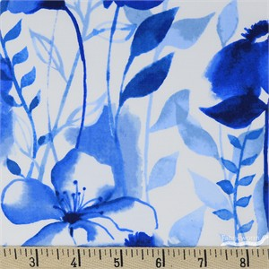 COMING SOON, Grace Popp for Studio E, Nature Walk Indigo, Large Wildflower Floral