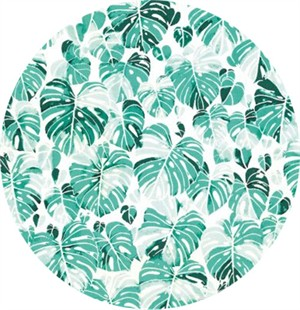 Hailey Hoffman for Hoffman Fabrics, Summer Punch, Leaves Spearmint