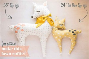 Little Fawn Softie Pattern by Birch Fabrics