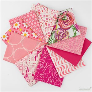 Art Gallery Fabrics, PRE-CUT Color Master, Life Is Pink in FAT QUARTERS 10 Total