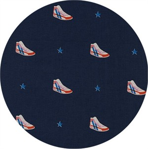 Melody Miller for Cotton and Steel, Kicks, Little Kicks Navy