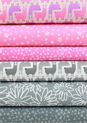 Fabricworm Custom Bundle, Llama Mama in FAT QUARTERS 6 Total