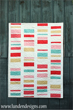 Love Ladder Quilt Kit Featuring Birch Mod Solids w/Pattern