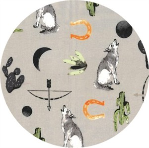 Hailey Hoffman for Hoffman Fabrics, Desert Dawn, Lone Wolf Taupe