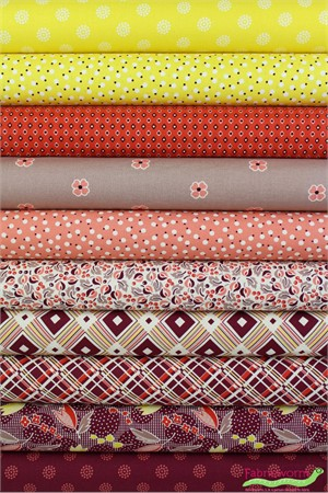 Denyse Schmidt for Free Spirit, Ludlow, Dogwood in FAT QUARTERS 10 Total