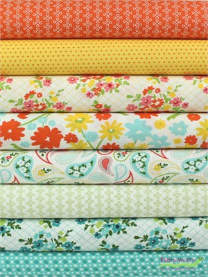 April Rosenthal for Moda, Mama's Cottage in FAT QUARTERS 8 Total