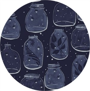 Rae Ritchie for Dear Stella, Trail Mix, Mason Jars Navy