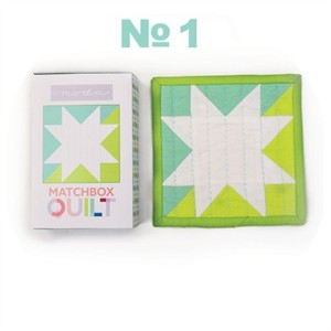 Moda Matchbox Quilt Kit #1 in Aqua