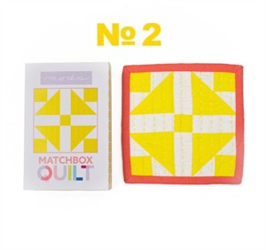 Moda Matchbox Quilt Kit #2 in Yellow