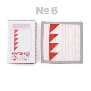 Moda Matchbox Quilt Kit #6 in Red