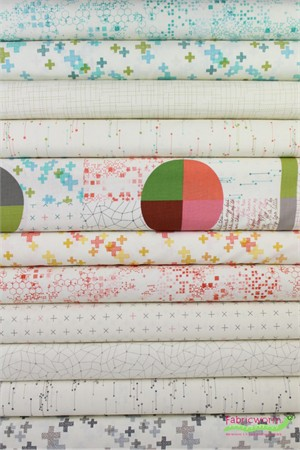 Moda, Modern Backgrounds Colorbox in FAT QUARTERS 11 Total (PRECUT)