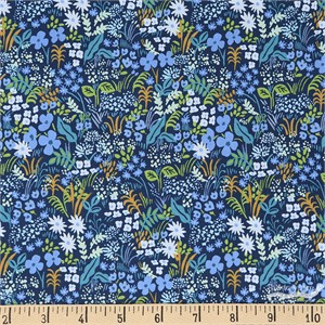 Rifle Paper Co. for Cotton and Steel, English Garden, Meadow Blue