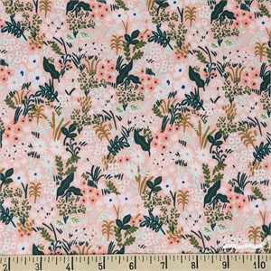 Rifle Paper Co. for Cotton and Steel, English Garden, Meadow Pink