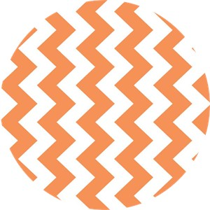 Riley Blake, Medium Chevron, Orange
