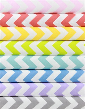 Riley Blake, Medium Chevron, Pastel in FAT QUARTERS 6 Total