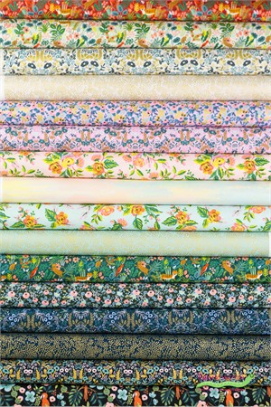 Rifle Paper Co. for Cotton and Steel, Menagerie in FAT QUARTERS 16 Total