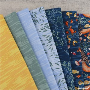 Fabricworm Custom Bundle, Mermaid Reef in FAT QUARTERS 7 Total