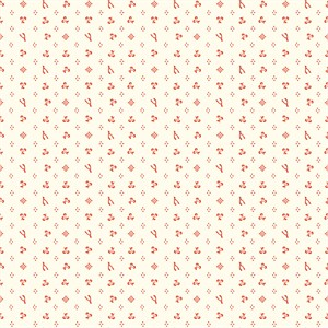 Arleen Hillyer for Birch Organic Fabrics, Merryweather, Merrythought Cream/Red
