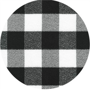 Robert Kaufman, Mammoth FLANNEL, Buffalo Check White