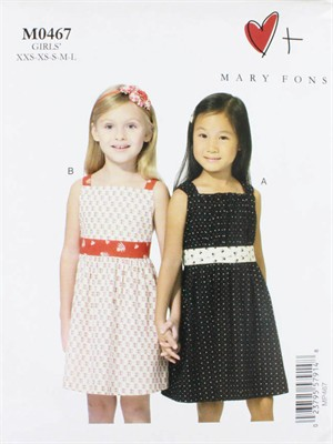 Mary Fons, Sewing Pattern, Girls' Dresses
