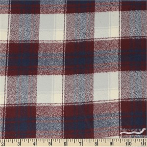 Robert Kaufman, Mammoth FLANNEL, Sundown Burgundy